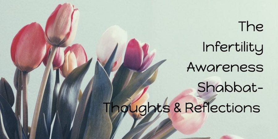 Tulips background for text The Infertility Awareness Shabbat- Thoughts and Reflections
